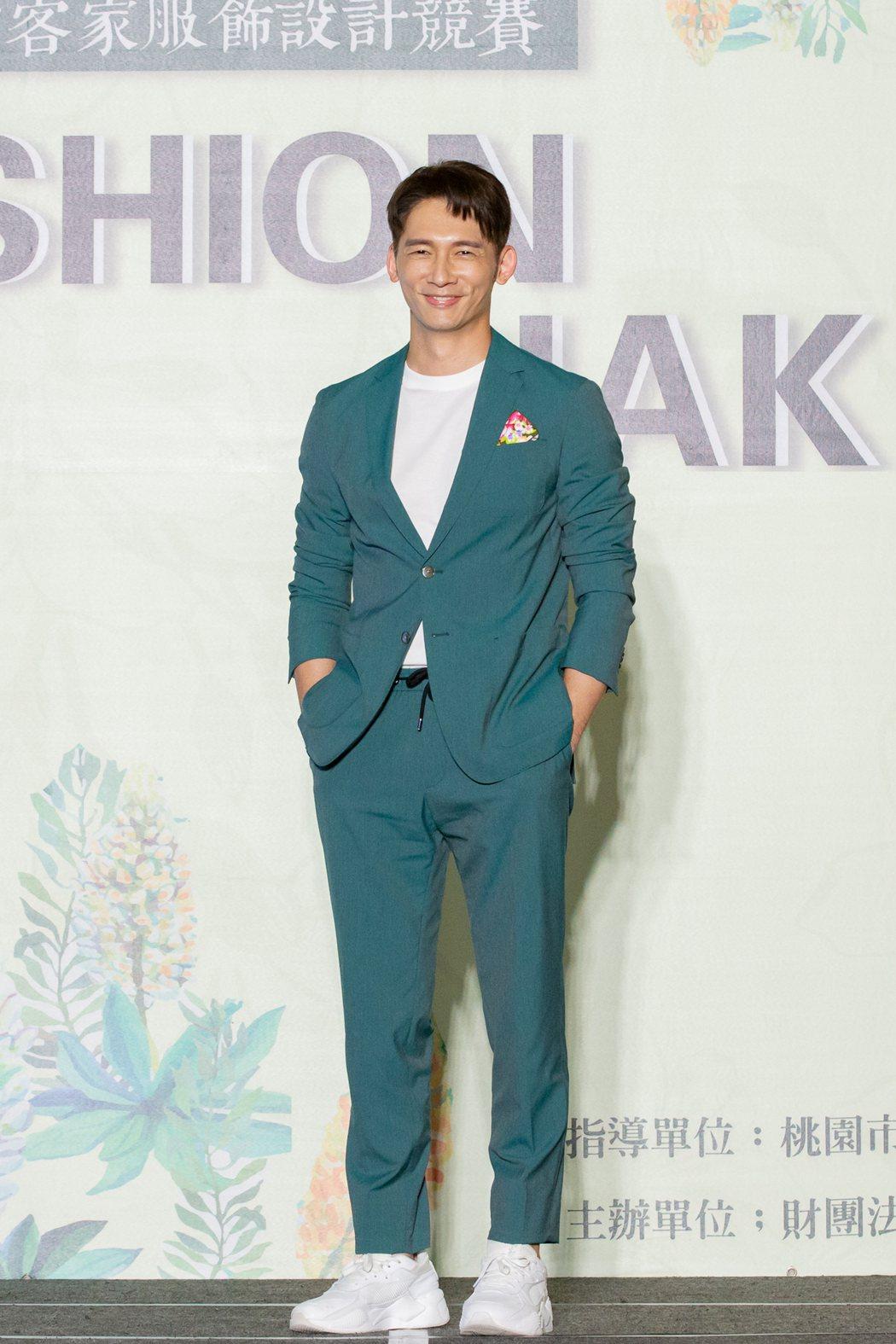 溫昇豪出席2020時尚客家服飾設計競賽活動。圖/桃園市客家文化基金會提供