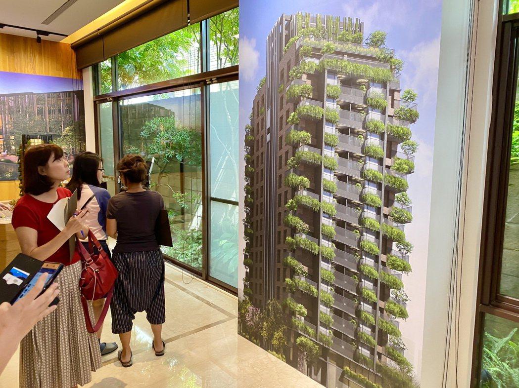 「陸府森山」為11期首座宜居建築住宅,戶戶規劃植樹大陽台。記者宋健生/攝影