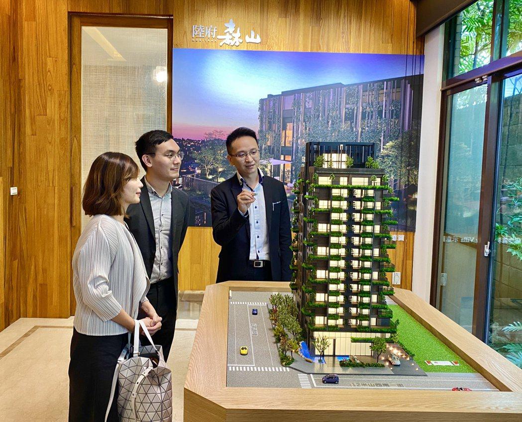 陸府建設在北屯11期的首件大樓案「陸府森山」交出漂亮成績單,尚未正式公開即已銷售...