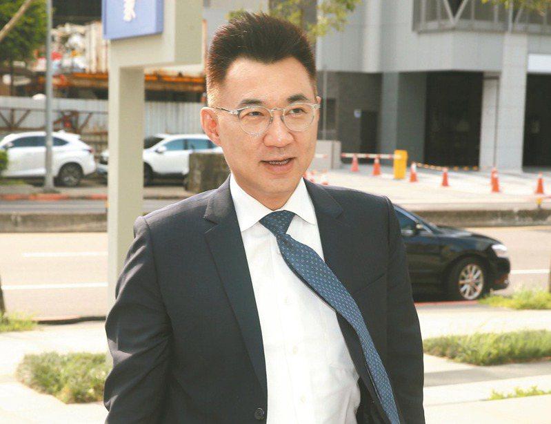 國民黨主席江啟臣前天到馬英九文教基金會,拜會前總統馬英九。 記者林伯東/攝影