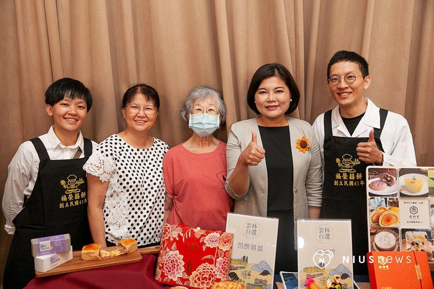 虎尾福榮喜餅經由計畫案商品改造推出芋見麻糬餅。 凱俐創媒/提供