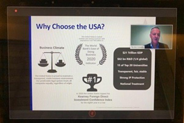 此次Select Taiwan選擇台灣高峰會邀請多位美國專家學者參與,圖為主講人...