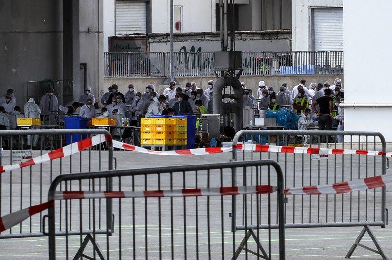 德國一處屠宰場有1500多名工人染疫。歐新社
