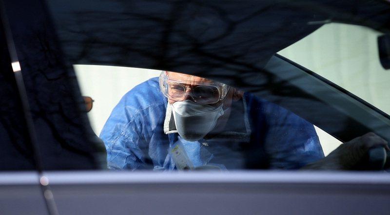 德國今天公布數據,境內確診病例新增587人。法新社