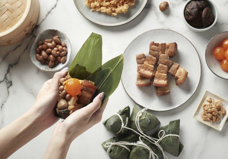南北部粽子的餡料不太一樣。 圖/台北喜來登飯店提供