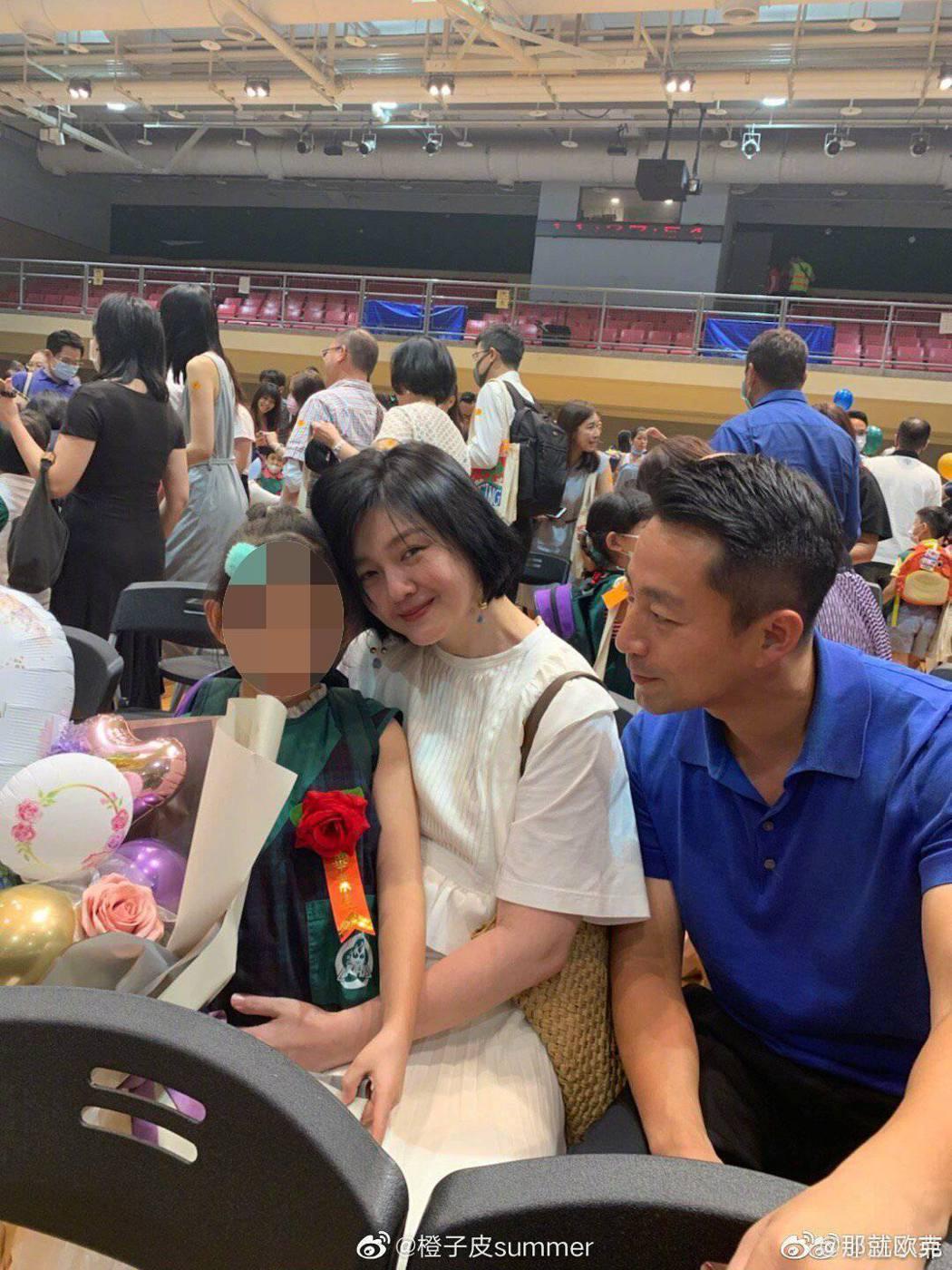 大S與汪小菲參加女兒畢業典禮。 圖/擷自微博