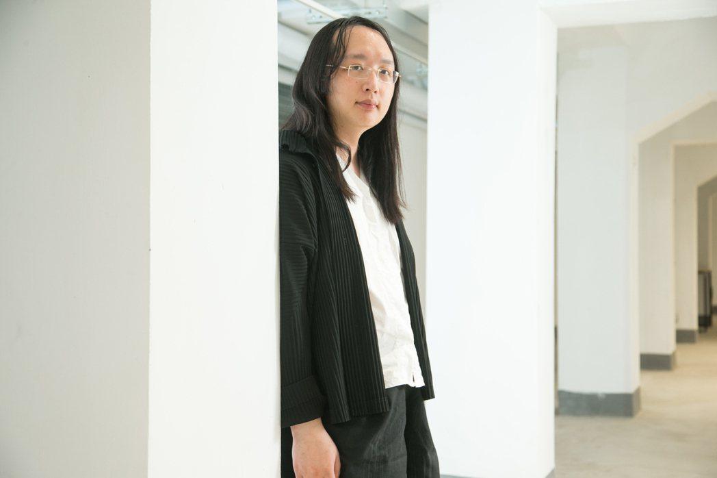 唐鳳面對鏡頭相當自在。記者陳立凱/攝影