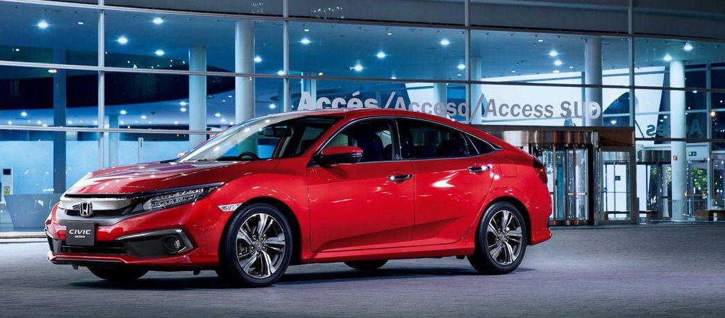 Honda Civic Sedan。 摘自Honda