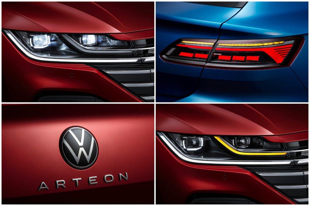小改款Volkswagen Arteon外觀特點。 摘自Volkswagen