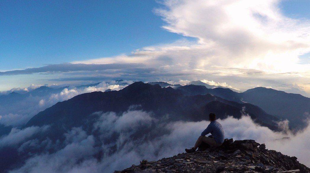 在獨處時,領略荒野之美。圖為天空營地。 圖/作者自攝