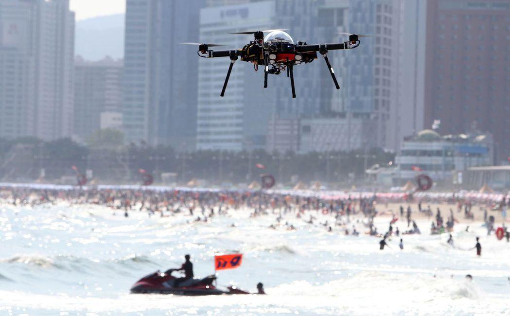 南韓無人機的示意圖。 圖/法新社