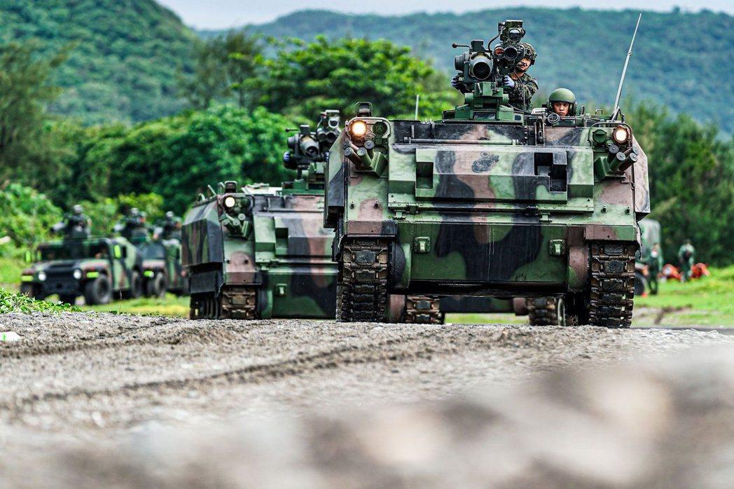 CM25拖式飛彈裝甲車。 圖/中華民國海軍