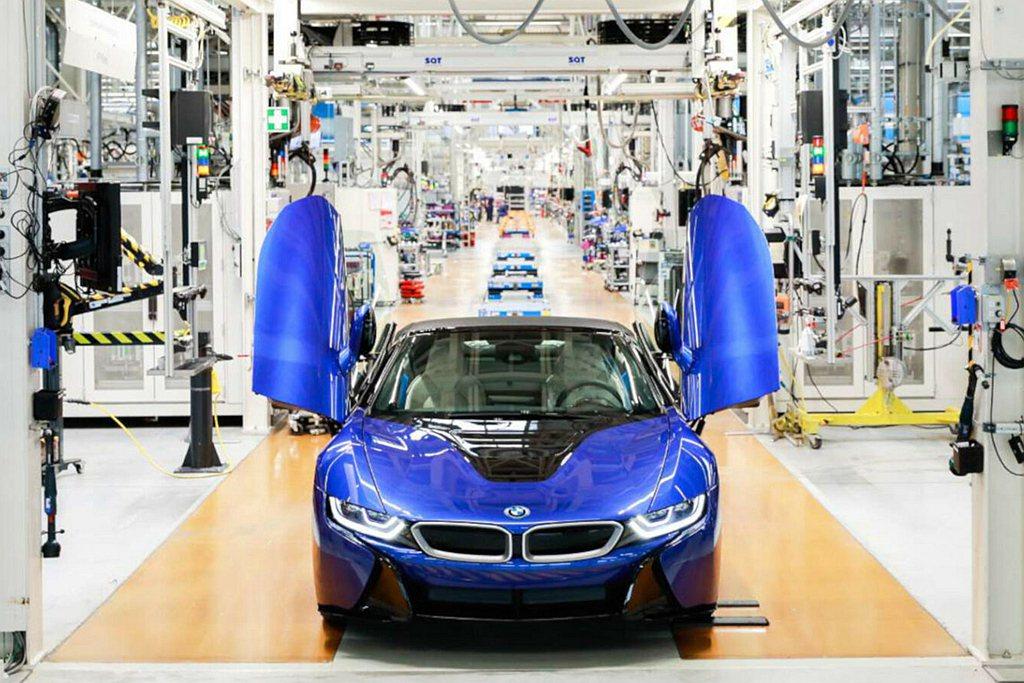 BMW旗下油電複合動力跑車i8,2020年在萊比錫廠結束約莫六年的生產週期。 圖...