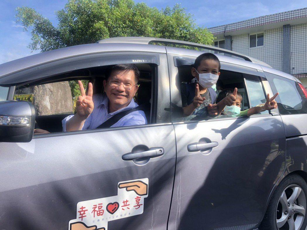 交通部在台東縣延平鄉推動「噗噗共乘」二年,讓學童放學有車可搭。記者侯俐安/攝影