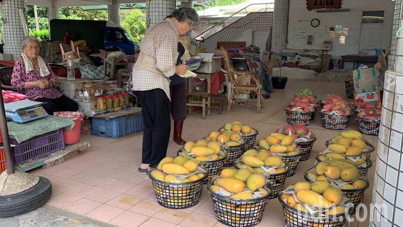 台南左鎮青果市場即使在芒果產季,也剩下零星老農擺攤苦撐。記者吳淑玲/攝影