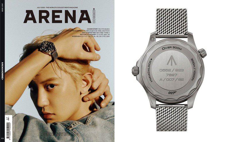 抗癌成功的金宇彬,近期強勢回歸,人氣看漲並登韓國男性時尚雜誌封面。圖 / 翻攝自 ig @Arenakorea。