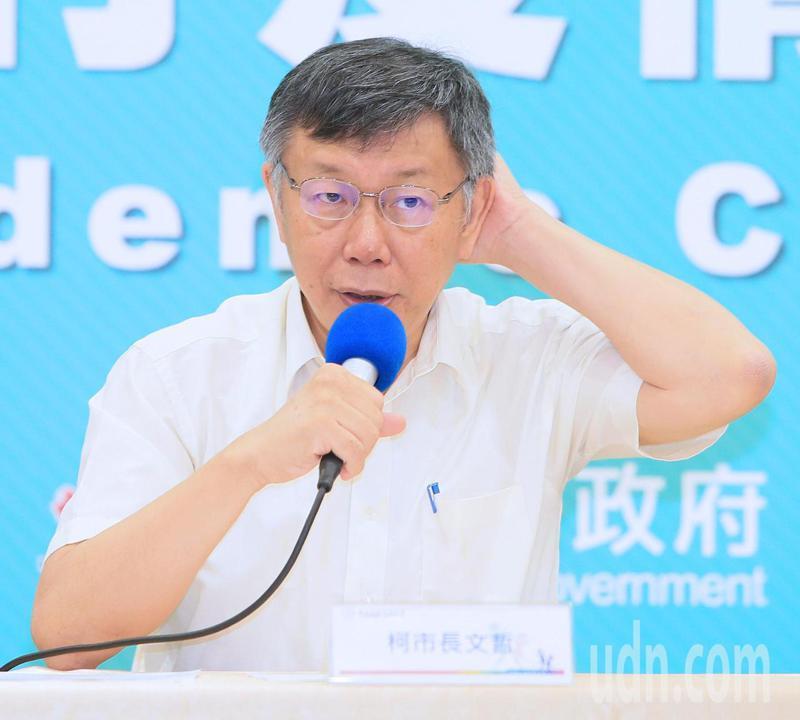 台北市長柯文哲表示,吳益政在地方是經得起檢驗。記者潘俊宏/攝影