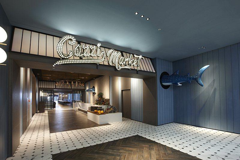 「逸.市集」與日本知名露營品牌Snow Peak合作,打造250個座位的大型自助餐廳。圖/國泰飯店提供