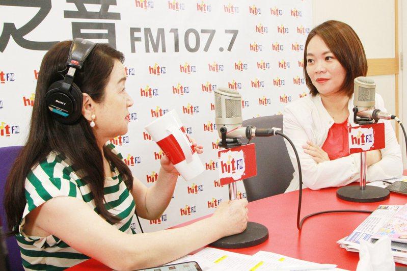 台北市議員簡舒培上午接受《周玉蔻嗆新聞》專訪。圖/「Hit Fm《周玉蔻嗆新聞》製作單位提供