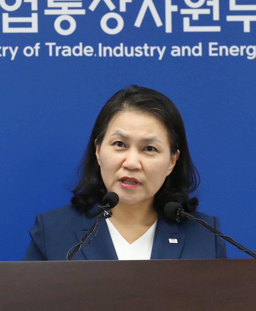 南韓貿易部長俞明希。(歐新社)