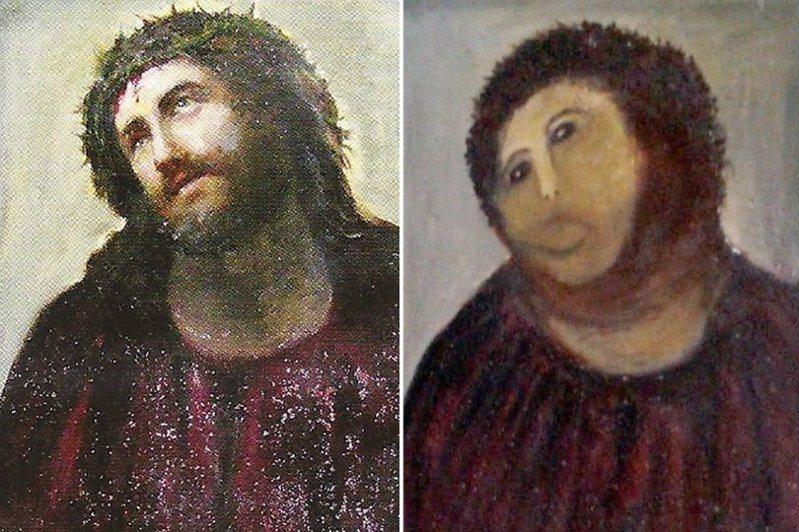 整起事件讓人想起2013年的「猴子基督」(Monkey Christ)修畫失敗事件。BBC