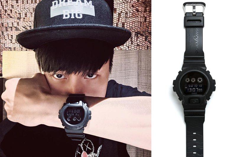 林俊傑搶先在個人IG上配戴示範G-Shock與SMG聯名腕表。圖/摘自林俊傑IG、Casio提供