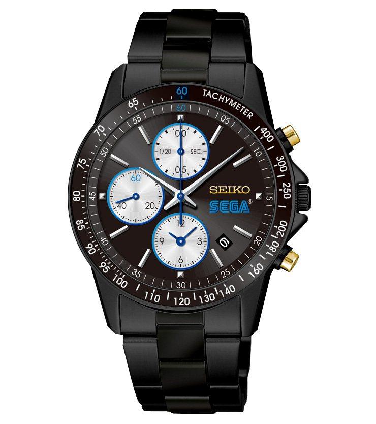 SEGA慶祝60周年與SEIKO推出聯名紀念腕表,限量400只,台灣未售。圖/摘...