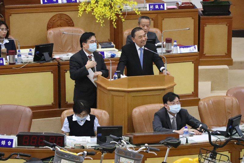 新北市長侯友宜今接受總質詢。記者吳亮賢/攝影