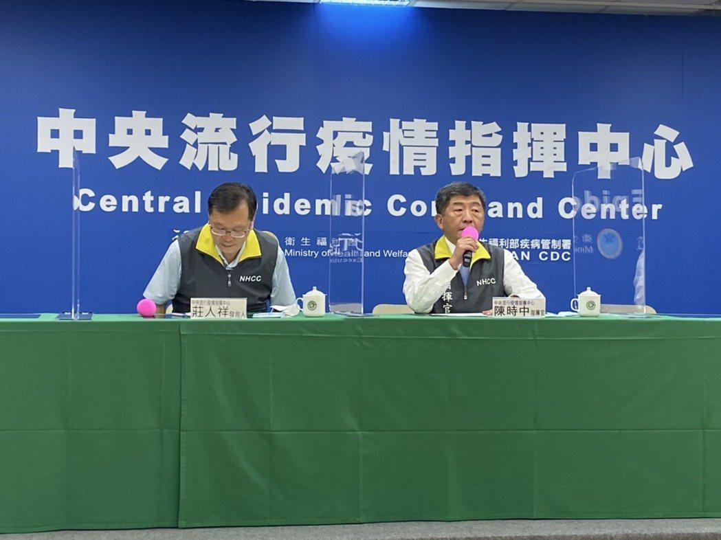 中央流行疫情指揮中心6月24日下午五時半臨時記者會出席名單由左到右中央流行疫情指...