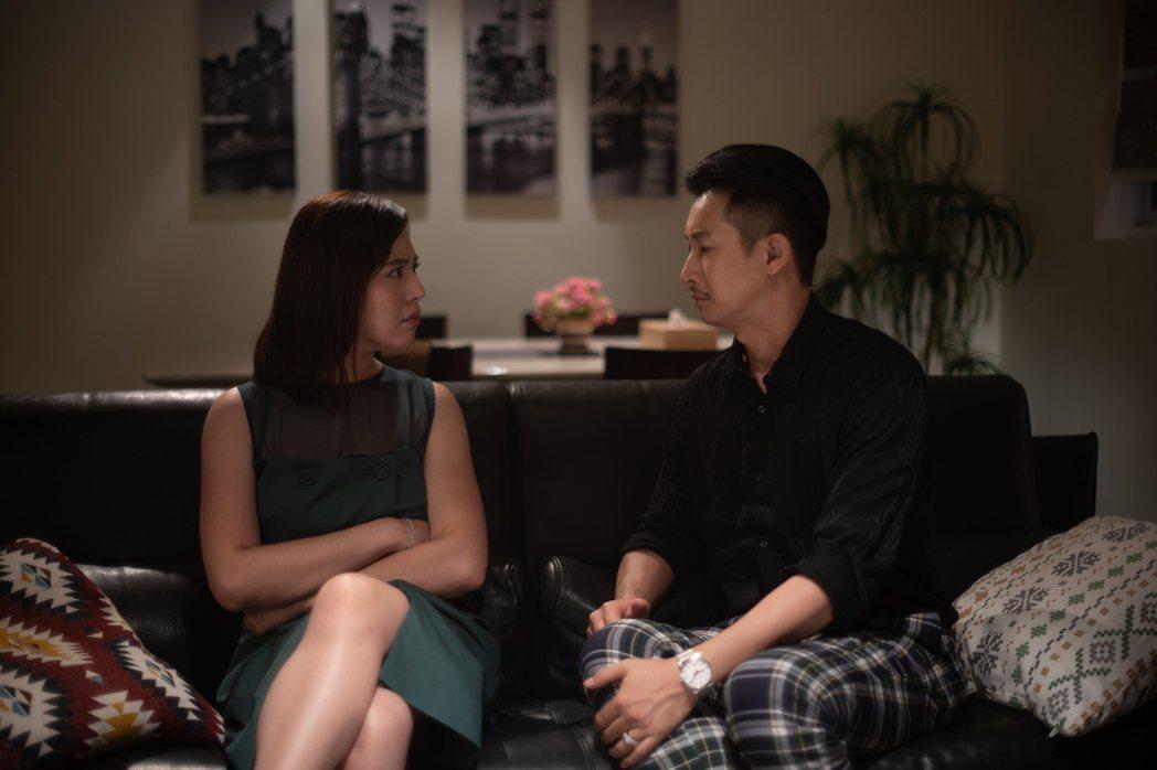 劉品言(左)與Darren在「我的婆婆怎麼那麼可愛」中演夫妻。圖/公視提供