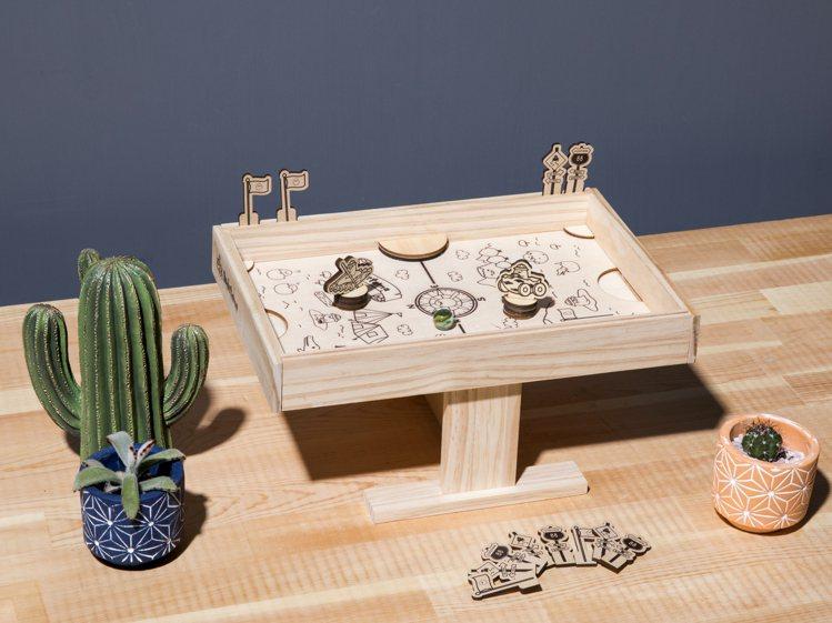 蛋黃哥趣探險桌上曲棍球DIY材料包。圖/特力屋提供