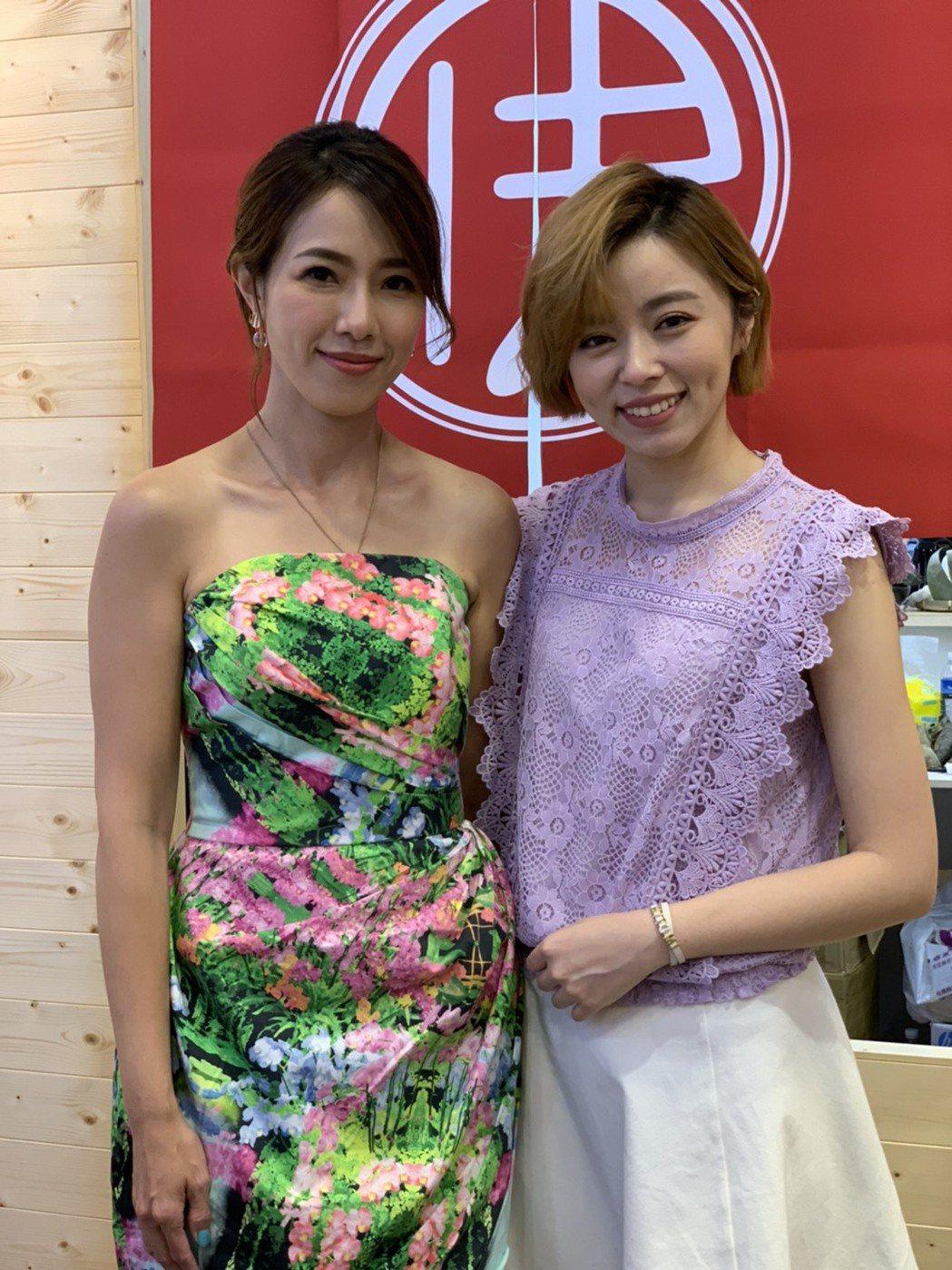 王瞳(右)、黃瑄出席加盟創業大展夏季展。記者陳慧貞/攝影