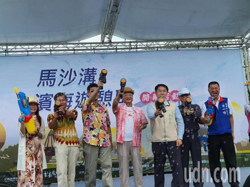 斥資5000萬元打造的馬沙溝濱海遊憩區今開幕。記者謝進盛/攝影