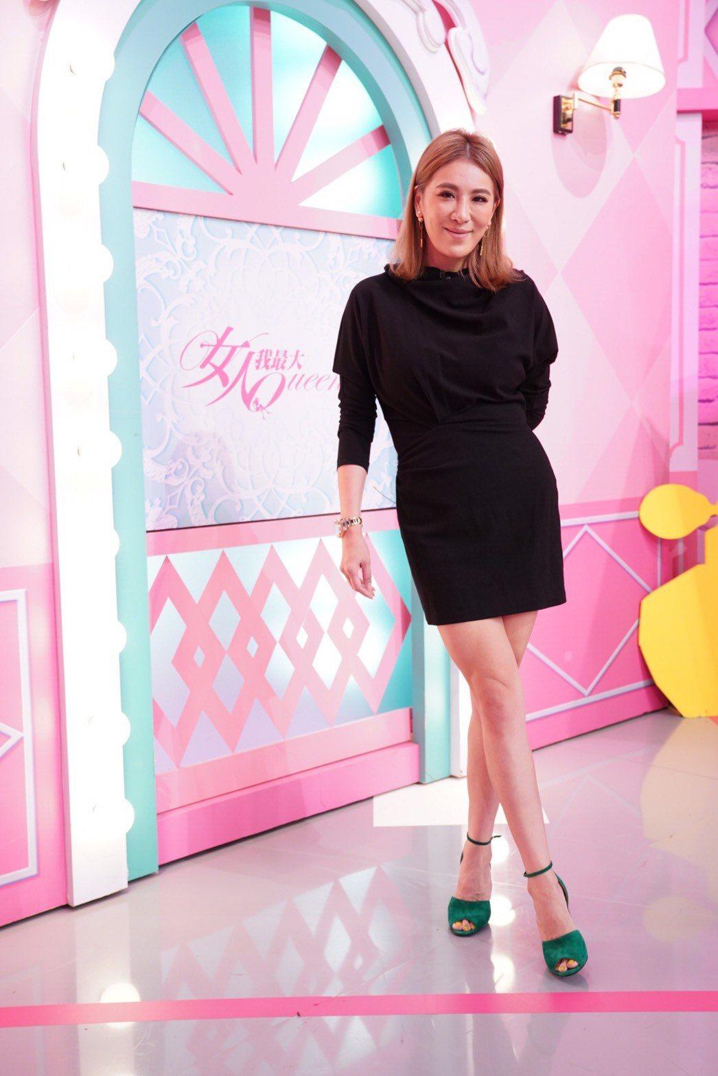 小禎瘦下來維持得不錯,是女藝人中減肥成功的榜樣。圖/TVBS提供