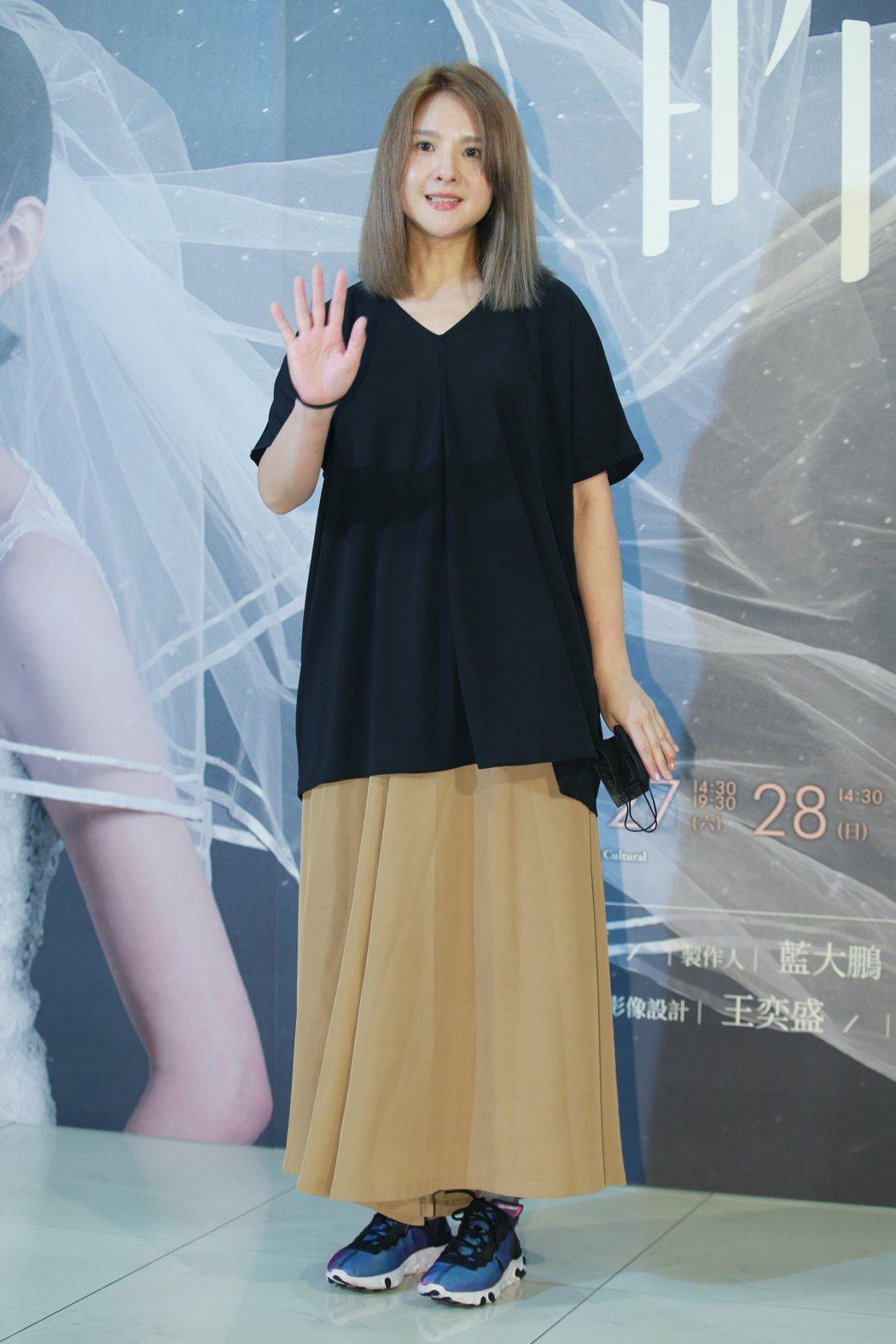 舞台劇「昨夜星辰」在台北城市舞台舉行首演,藝人郭靜(圖)前來觀賞。記者許正宏/攝...