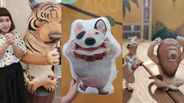 環球購物中心推出朝隈俊男「奇幻動物園」主題裝置。圖/環球購物中心提供