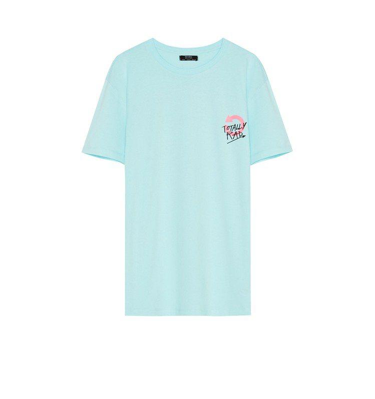 Bershka印花T恤490元。圖/Bershka提供