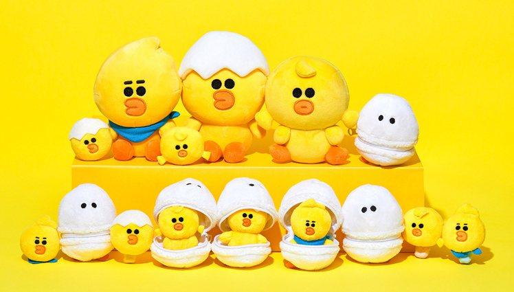 「SALLY & FRIENDS」限量商品中有多款超萌玩偶。圖/LINE FRI...