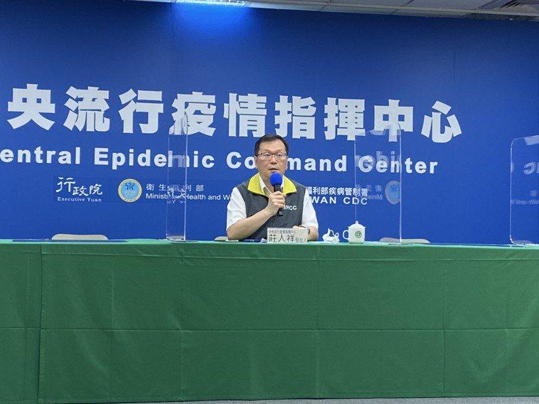 中央流行疫情指揮中心發言人莊人祥。記者簡浩正/攝影