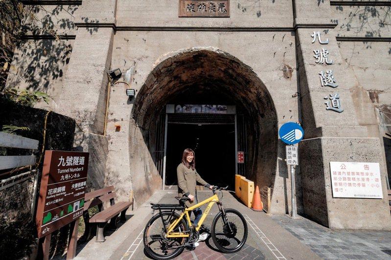 后豐鐵馬道九號隧道。圖/台中市府觀旅局提供