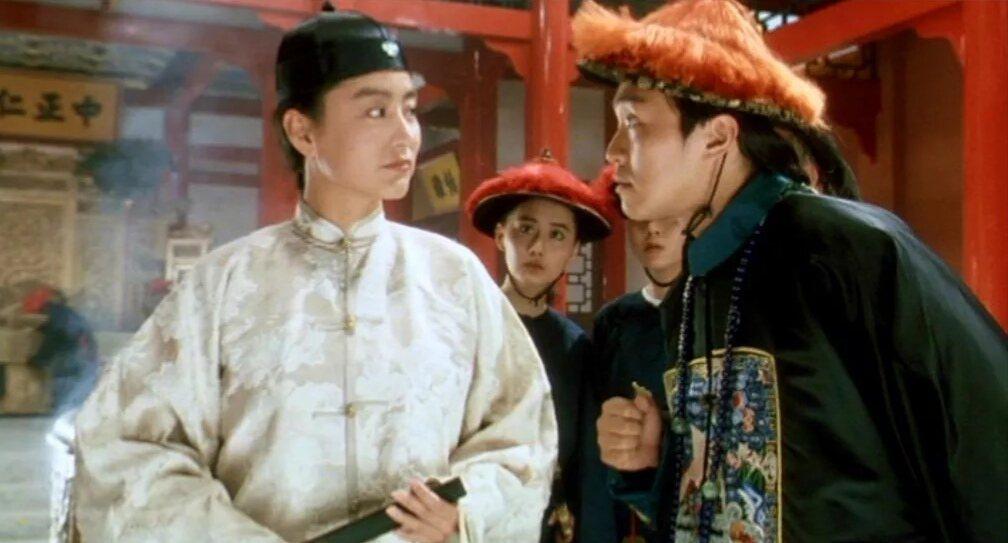 林青霞(左)與周星馳合作「鹿鼎記Ⅱ神龍教」,台灣賣出破億佳績。圖/摘自imdb