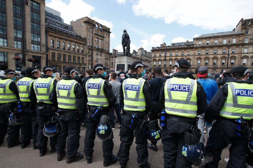 英國蘇格蘭格拉斯哥警方示意圖。(歐新社)