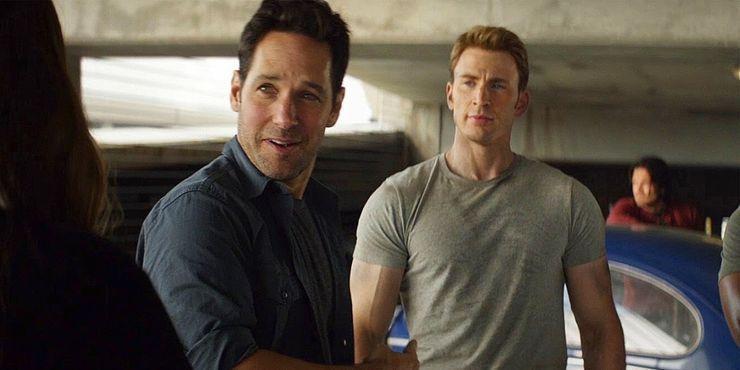 保羅路德(左)與克里斯伊凡曾在漫威英雄片中合作。圖/摘自YouTube