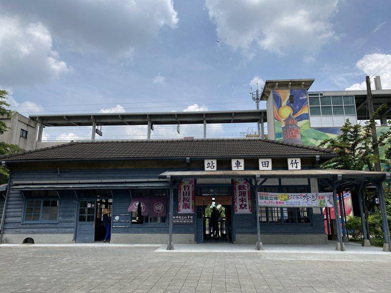 竹田站是台鐵屏東線僅存木造車站,成為「竹田驛鐵道故事館」,端午連假正式開館。記者劉星君/攝影