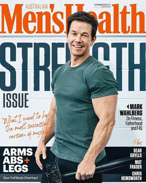 馬克華柏格「健身魔人」形象深入人心,登上健身雜誌封面。圖/摘自Instagram