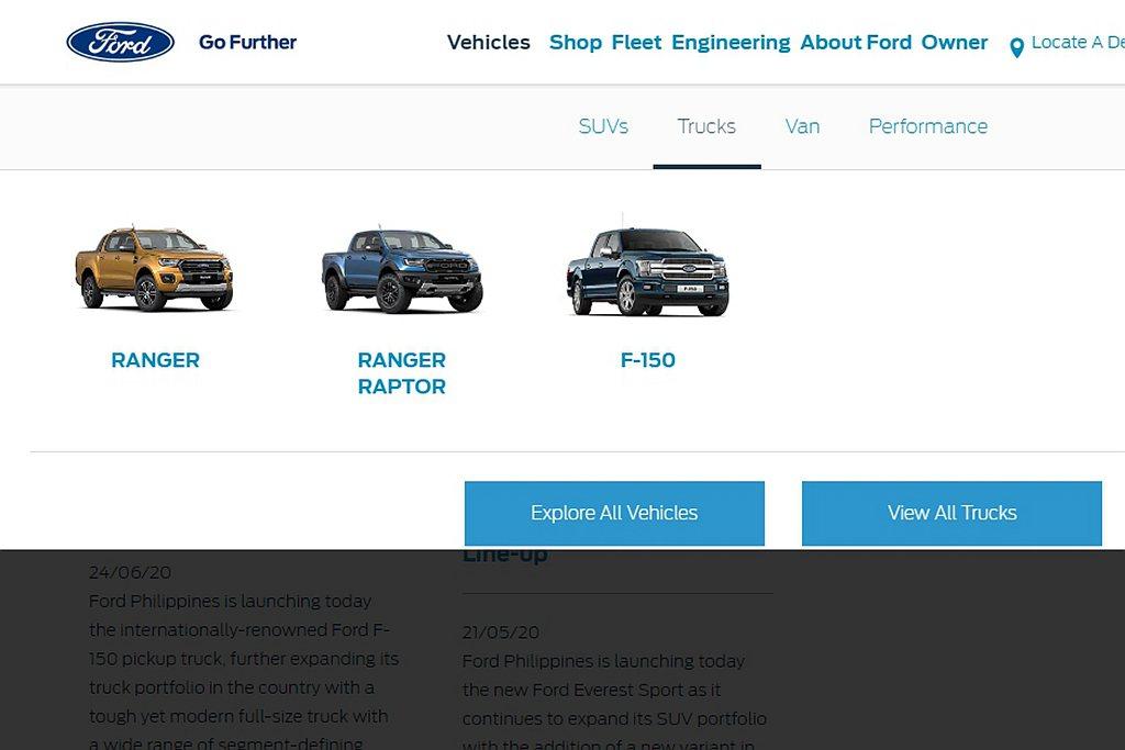為加強Ford在菲律賓皮卡車銷售的領導地位,將F-150全尺寸皮卡車導入販售,加...