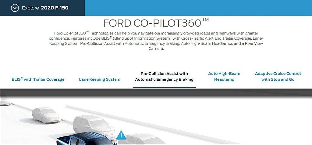 菲律賓販售的Ford F-150配有Co-Pilot 360駕駛科技輔助系統,包...