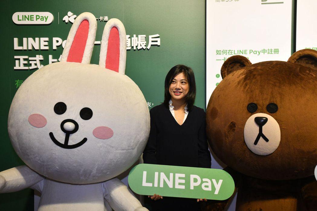 2018年,吳欣儒出席Line Pay一卡通帳戶上線活動。(劉國泰攝)