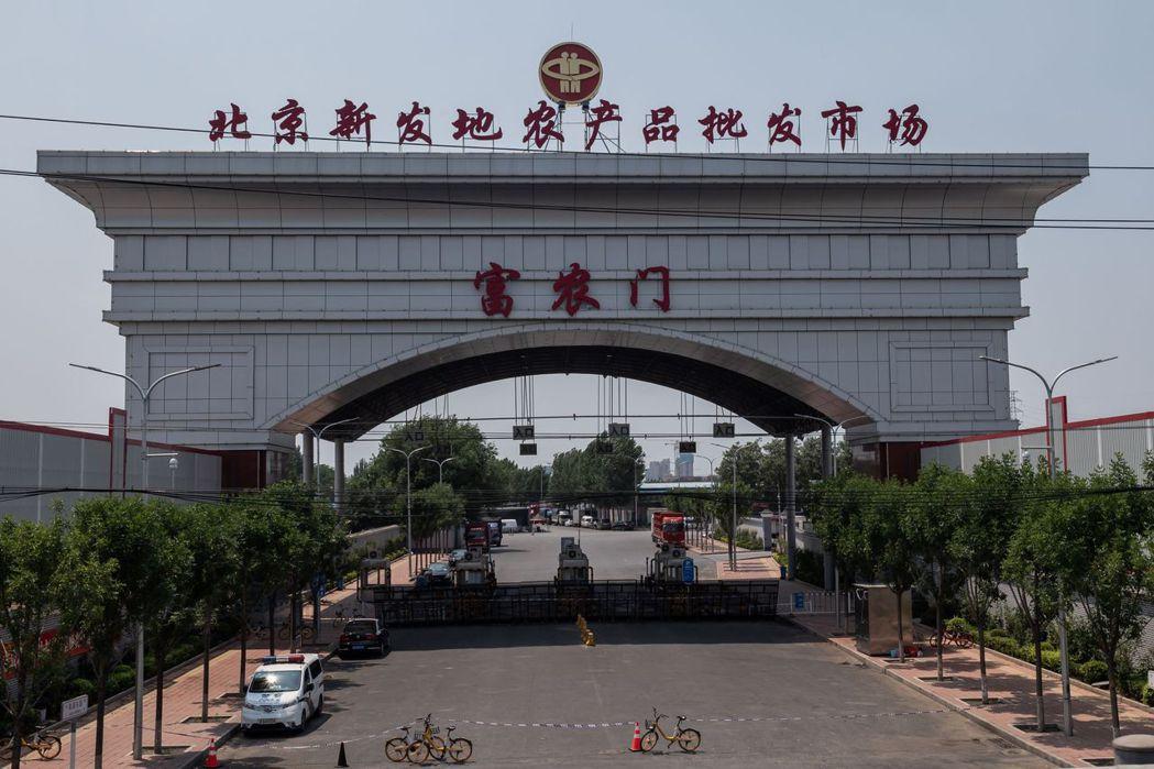 北京本次疫情主要感染來源-新發地市場。(法新社)