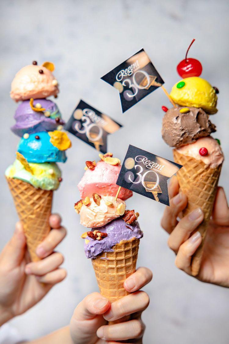 台北晶華的冰淇淋自助點心吧,大人小孩都喜愛。圖/台北晶華酒店提供
